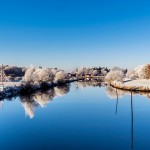在德国多瑙河欢渡圣诞节