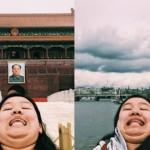 """【好烦喔但想追踪】她用""""双下巴""""旅行自拍,对抗 Instagram 假掰网美照"""