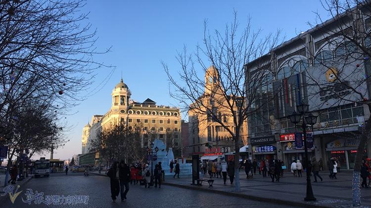 隆冬时节的中华巴罗克风情街