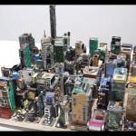 用电子元件打造的纽约都市丛林