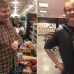 胖男走路上学减重百磅