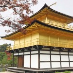 京都金阁寺的红叶满天